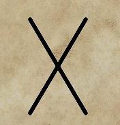 runa Gebo, runy a věštění, divinace