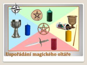 oltář a kruh, magický oltář, magický kruh, magické pomůcky, magie, okultismus, čarodějnictví, kouzlo