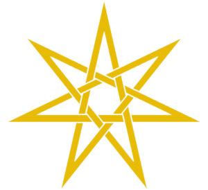 elfská sedmicípá hvězda, heptagram