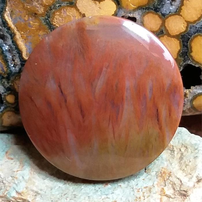 nerost, kámen, mineral, stone, agate, achát, obláčkvý achát, plume agate, cabochon, kabošon