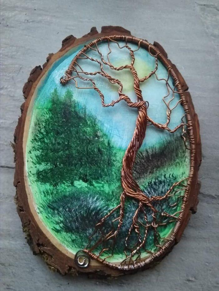 Helena Tenorová, malba na dřevo