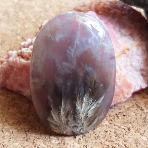 nerosty, mineral, kámen, stone, cabochon, kabošon, achát, agate, fialový achát, purple agate, obláčkový achát, plume agate