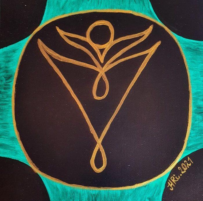 duchovní, umění, malba, užité umění, magický symbol, magie, symbol